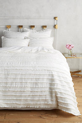 Slide View: 1: Fringed Duvet