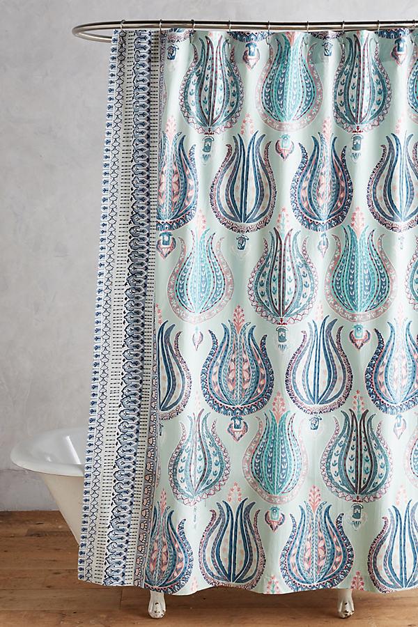 Fortuna Shower Curtain - Blue
