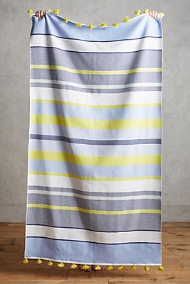 Slide View: 1: Pommed Stripes Beach Towel