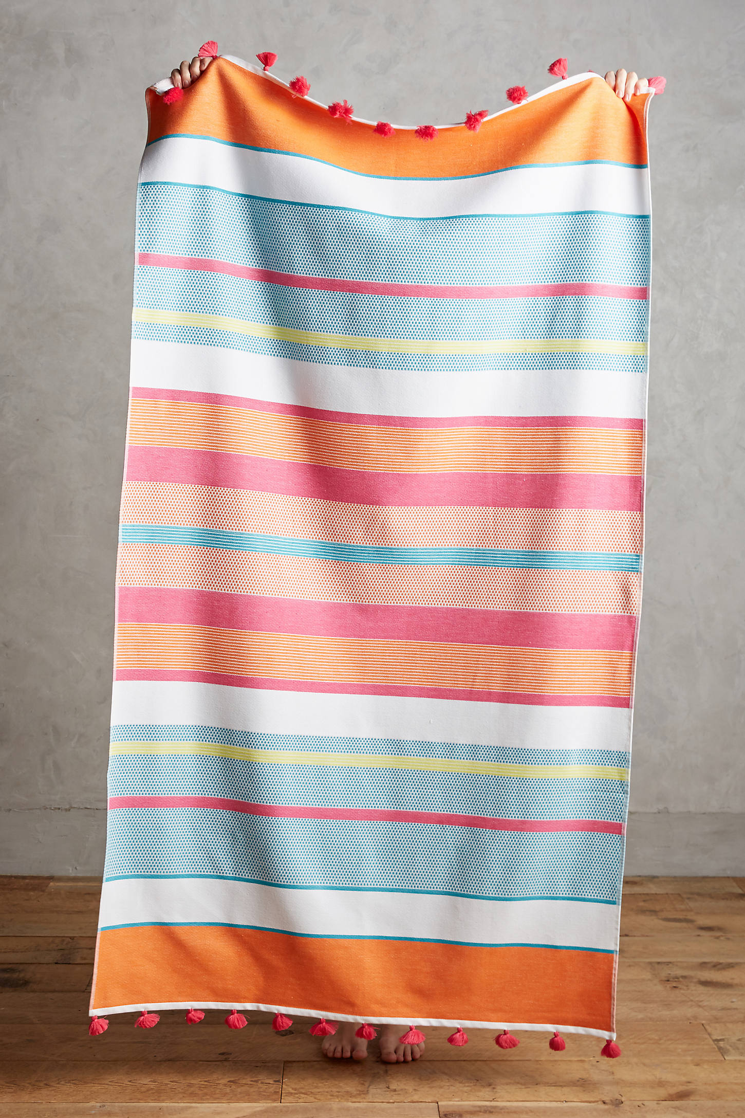 Pommed Stripes Beach Towel