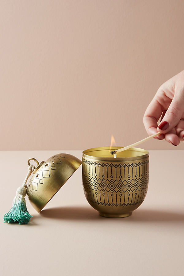Sunburst Candle - Green