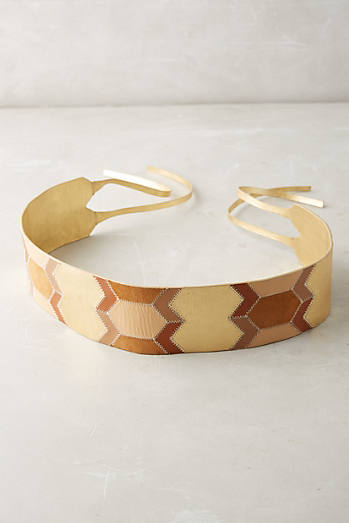Geo Patchwork Belt