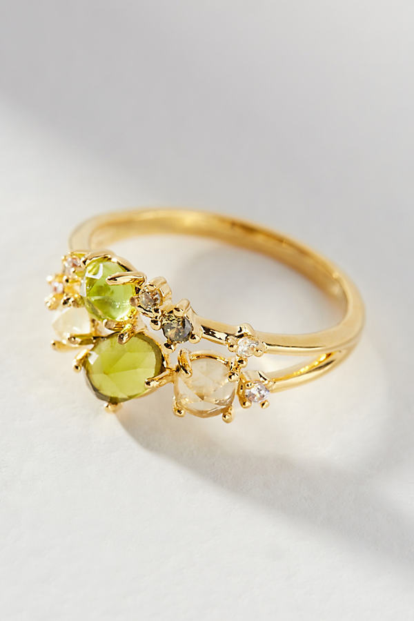 Birthstone Ring - Green, Size S/m