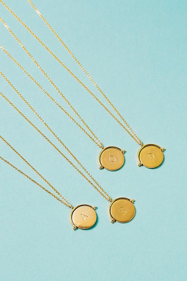 Monogram Spinner-Pendant Necklace