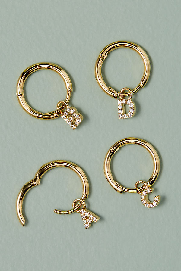 Monogram-Jewelled Hoop Earrings - Assorted, Size H