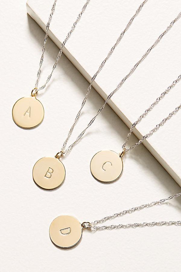 Monogram Disk Necklace - Assorted, Size U