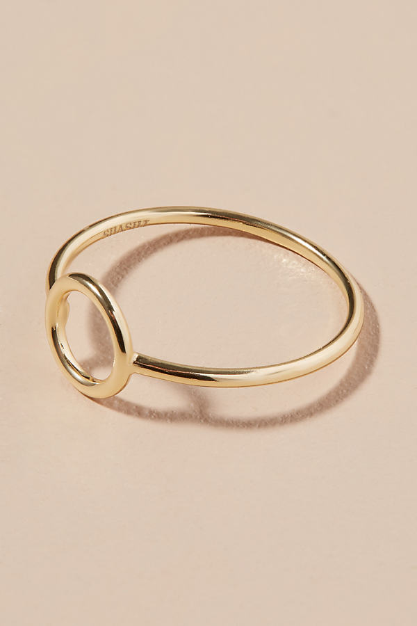 Open Circle Ring - Gold