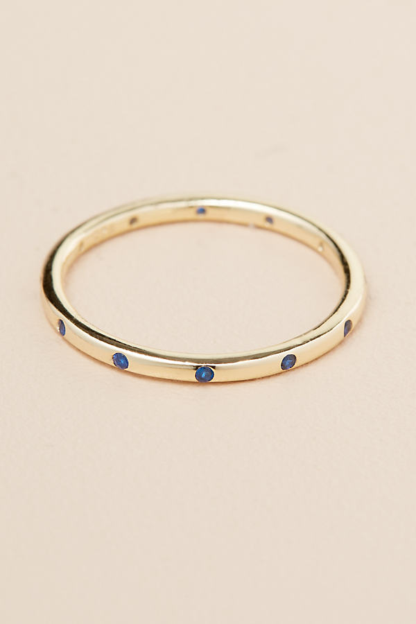 Stone Band Ring - Gold