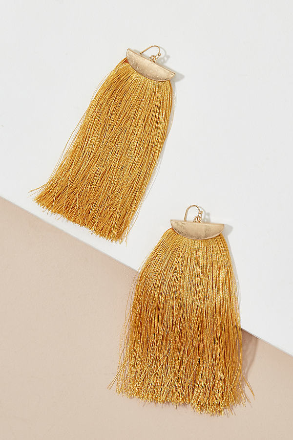Lennie Tassel Earrings - Dark Yellow