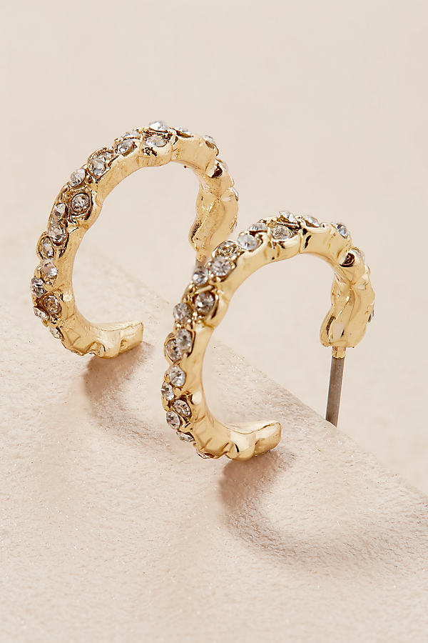Silvie Jewelled Hoops - Gold