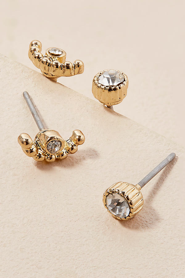 Andrea Pave Stud Set - Gold
