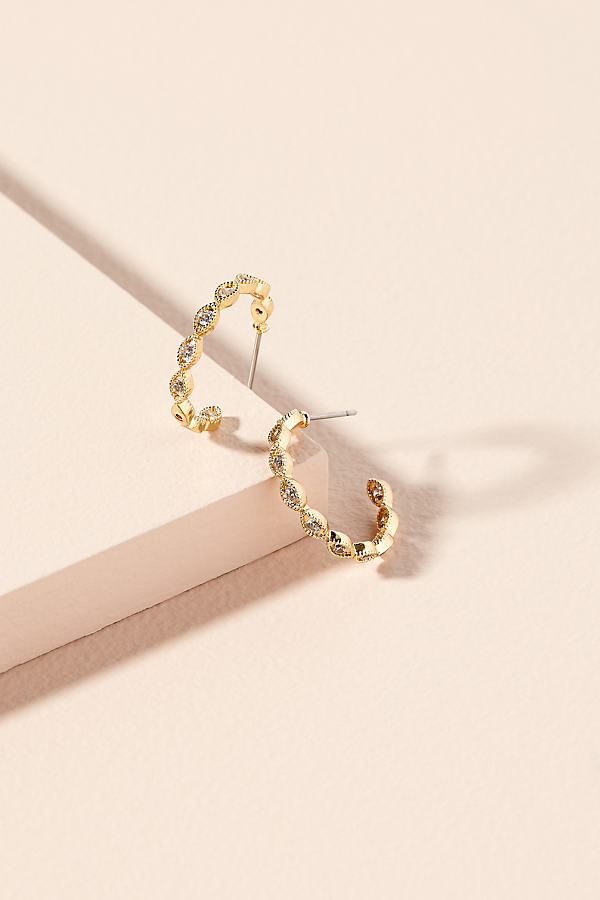 Georgie Jewelled Hoop Earrings - Gold