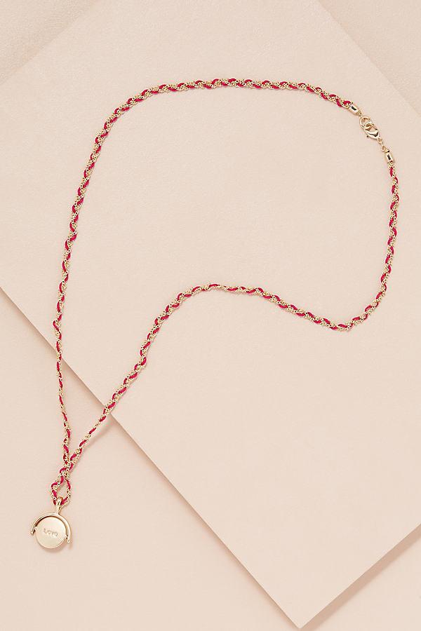 Lolita Disk Necklace - Pink