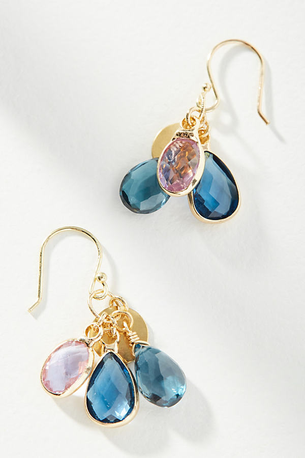 Viola Crystal Earrings - Blue