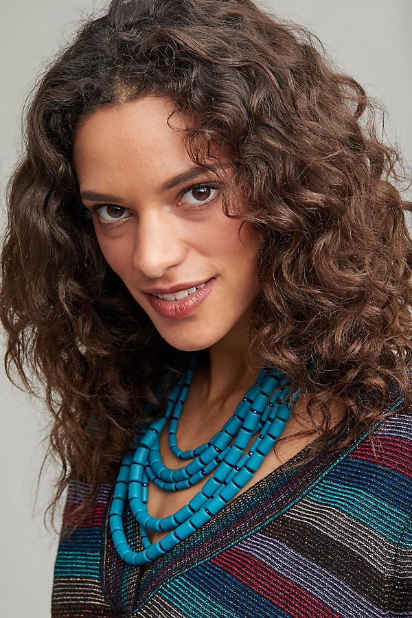 Rushka Layered Bead Necklace - Turquoise