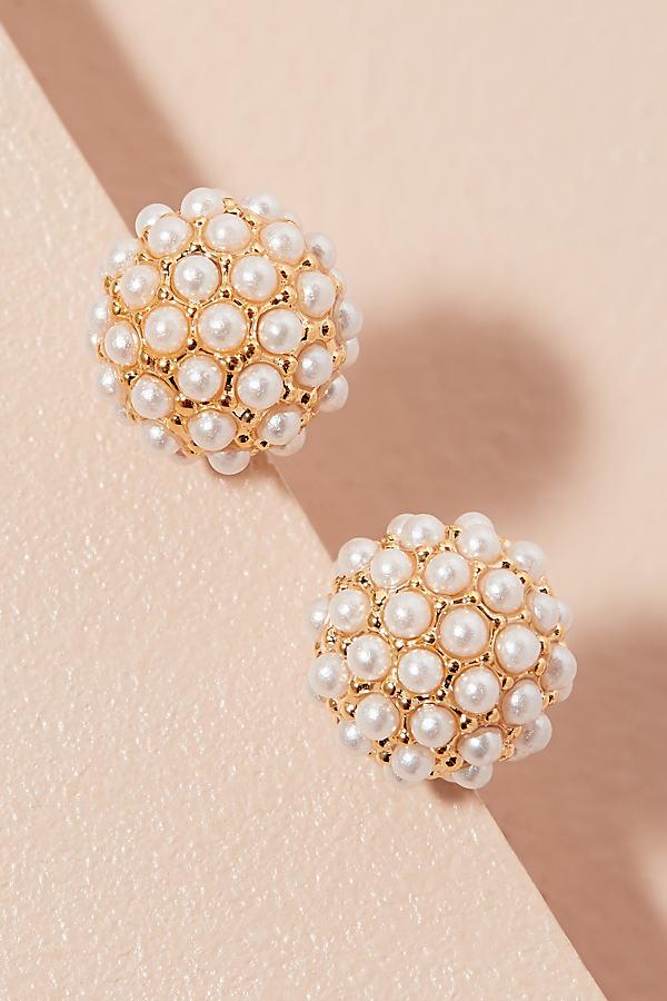 Mieze Pearl Studded Ball Earrings - Assorted