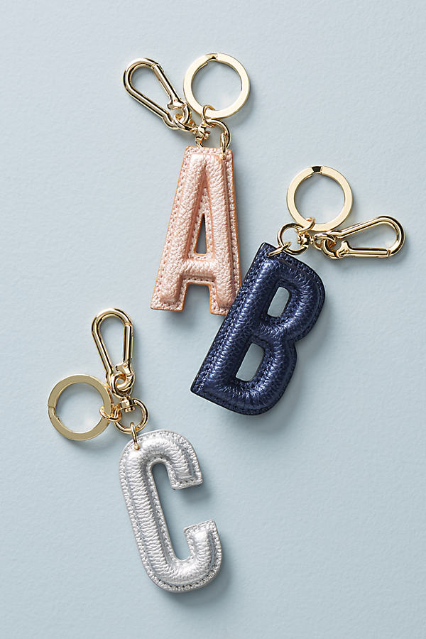 Metallic Monogram Keychain - Assorted, Size P