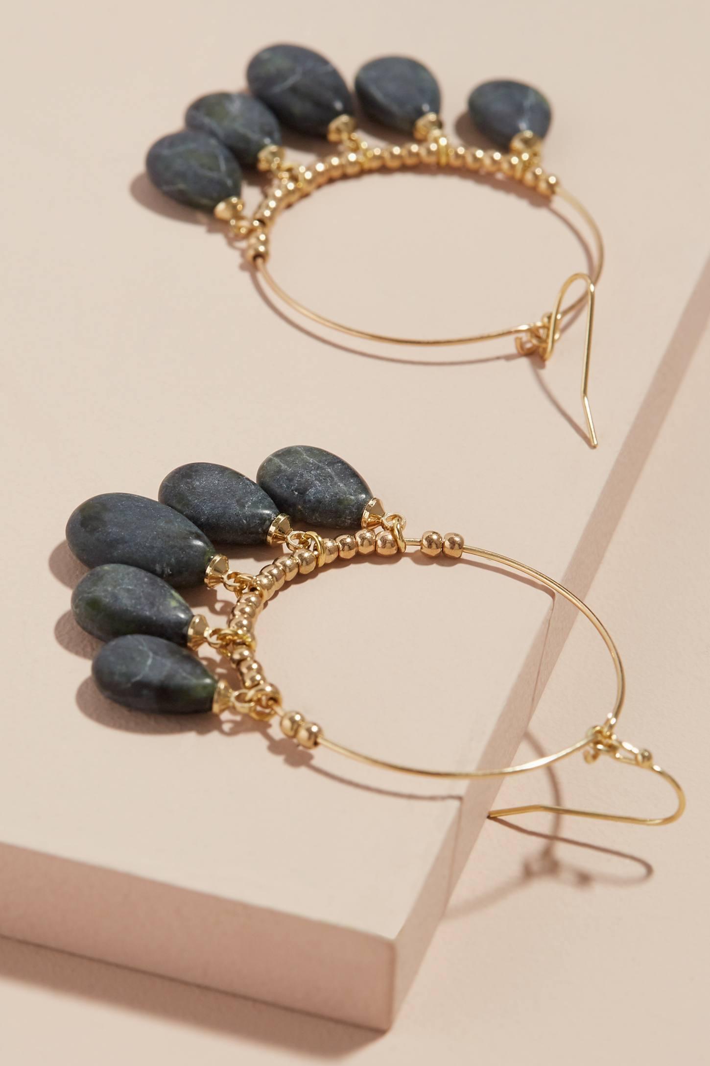 Anthropologie Daria Hooped Drop Earrings rtk5p6Hz