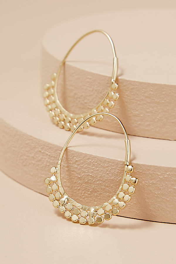 Cheyenne Coin Hoop Earrings - Gold
