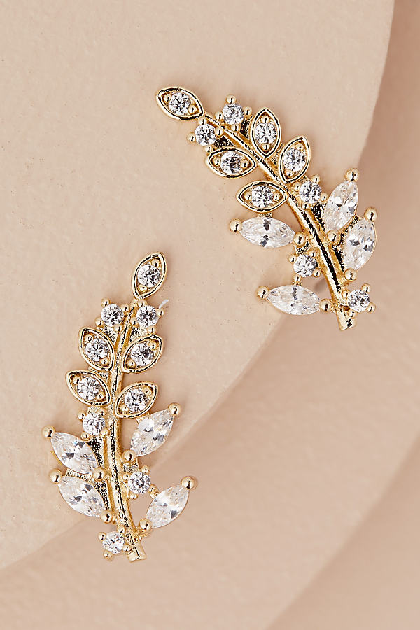 Zaid Leaf Earrings - Gold