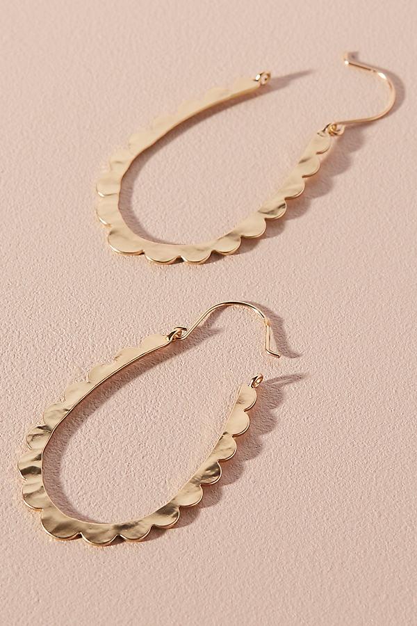 Celeste Scalloped Hoop Earrings - Gold
