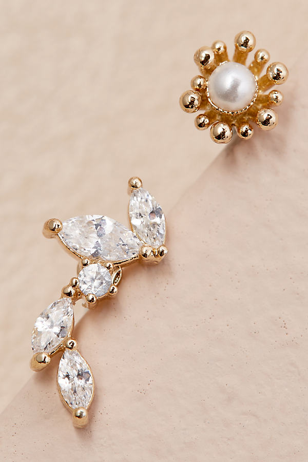 Mismatched Stud Earrings - Gold