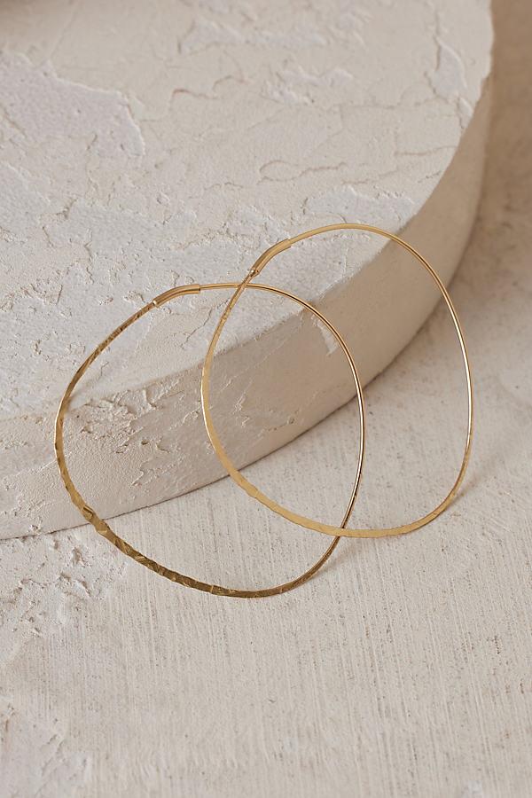 Decorative Carola Hoop Earrings - Gold