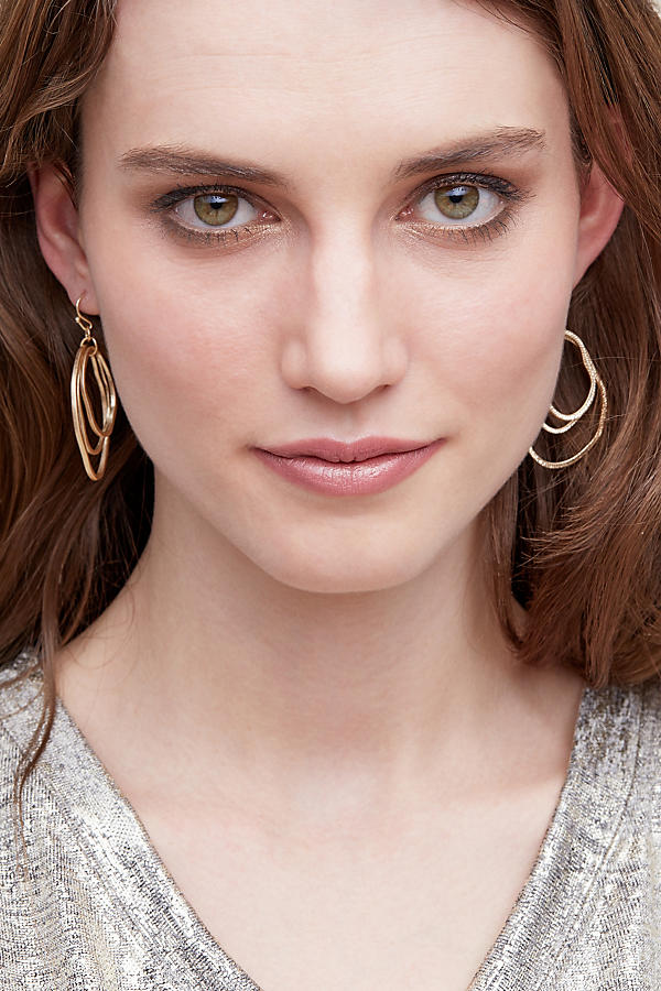 Slide View: 2: Bethany Hoop Earrings