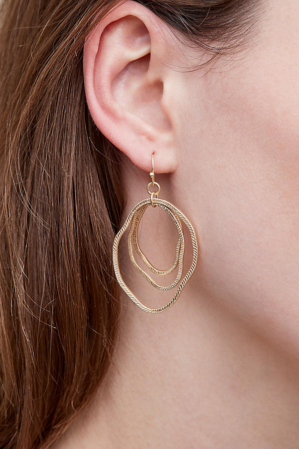 Slide View: 5: Bethany Hoop Earrings