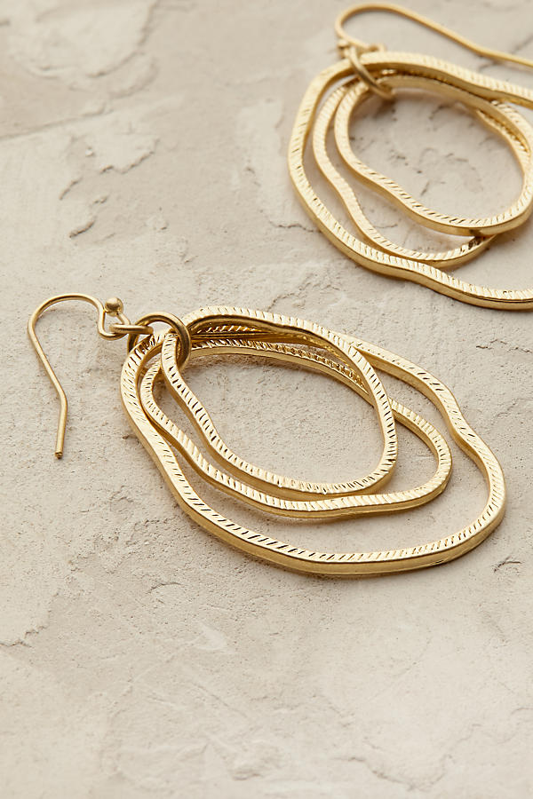 Slide View: 3: Bethany Hoop Earrings