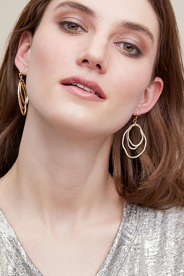 Slide View: 4: Bethany Hoop Earrings