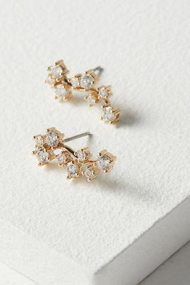 Daina Embellished Crawler Earrings by Anthropologie