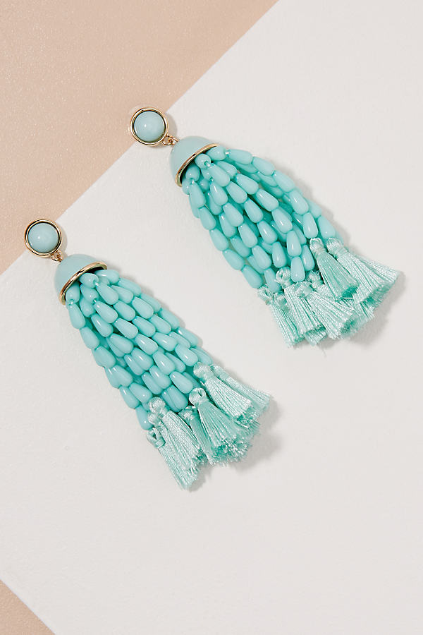 Leora Tassel Earrings - Mint