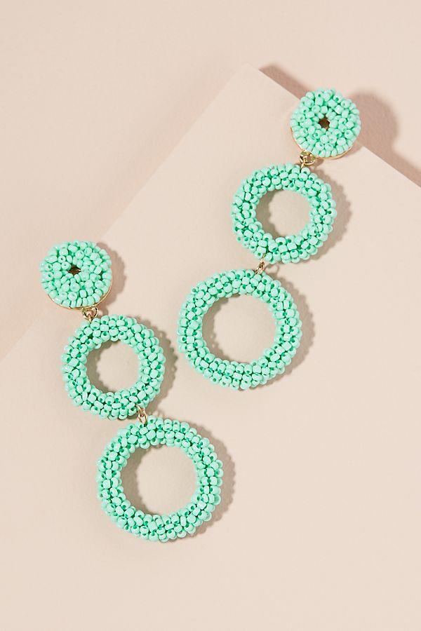 Bianca Beaded Chandelier Earrings
