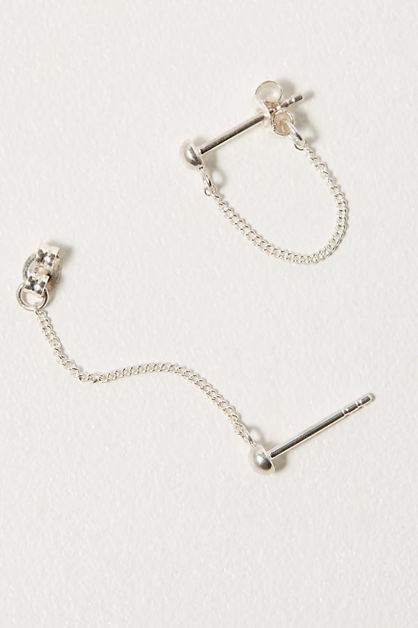 Silver Chain Studs - Silver