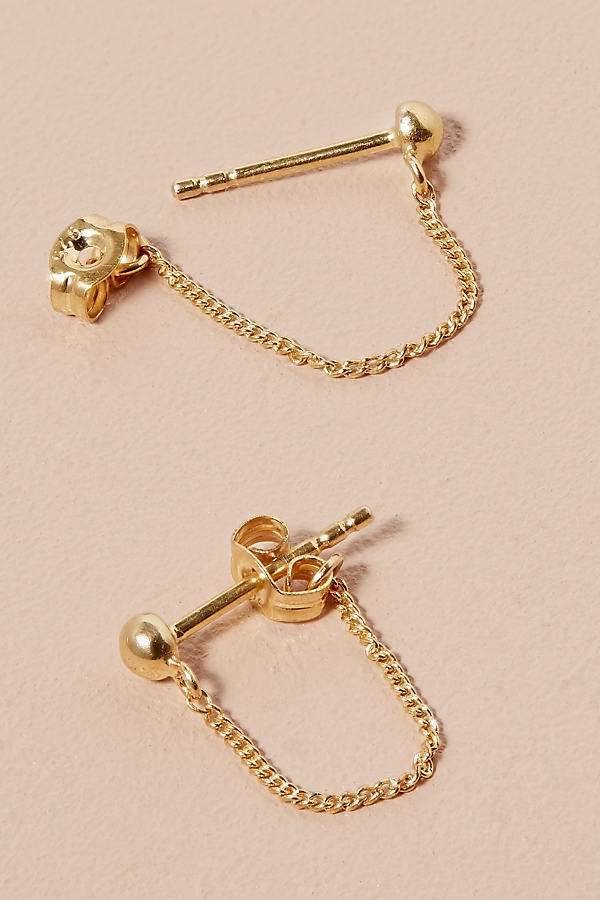 Gold Chain Studs - Gold