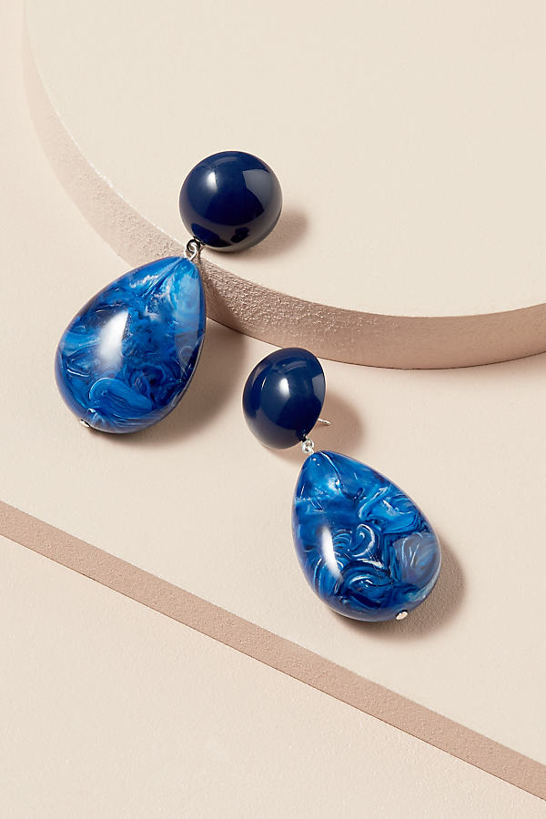 Ines Drop Earrings - Blue