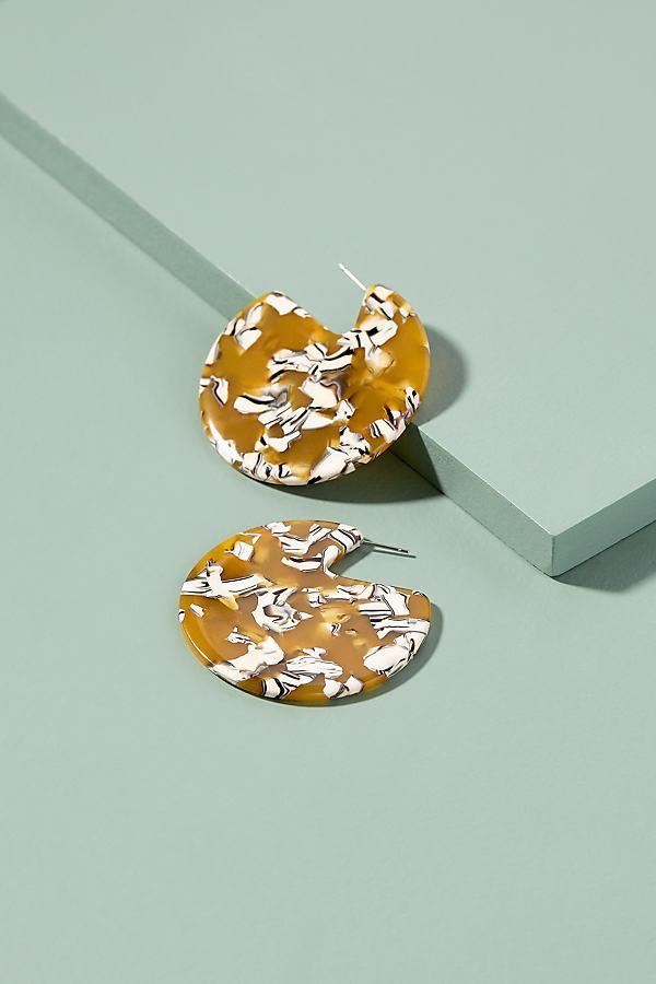 Clare Tortoiseshell Earrings - Yellow