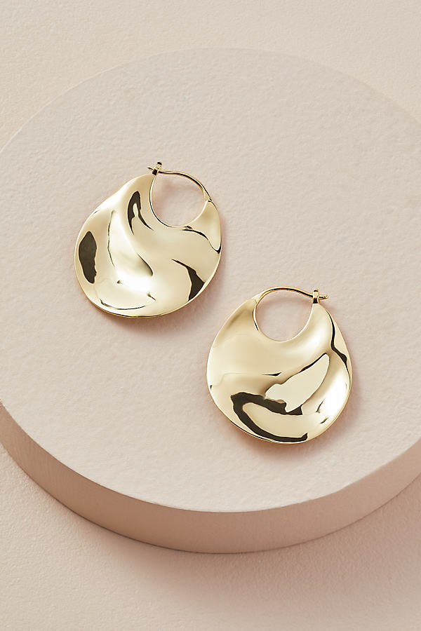 Saint Lola Geometric Drop Hoop Earrings - Gold