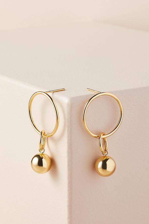 Saint Lola Double-Sphere Earrings - Gold