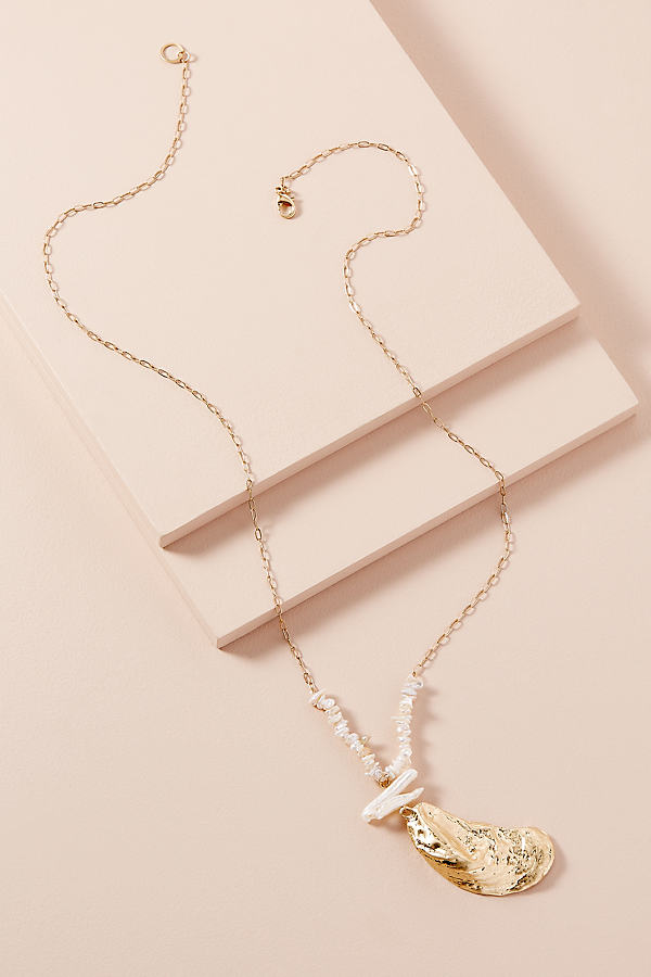 Amerie Shell-Charm Necklace - Gold