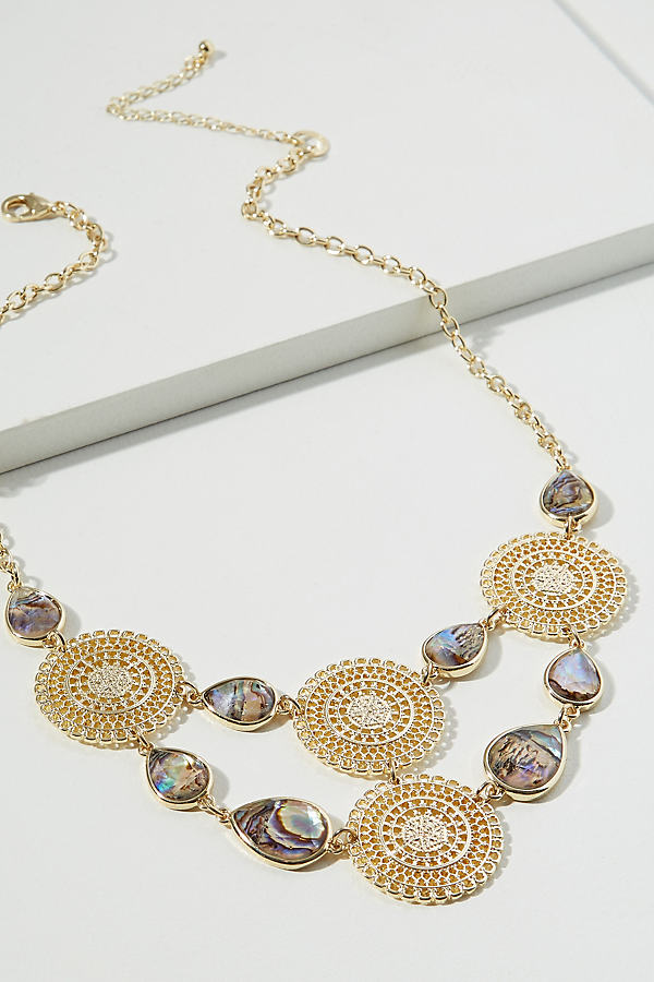Ascelia Gemstone Embellished Necklace - Gold