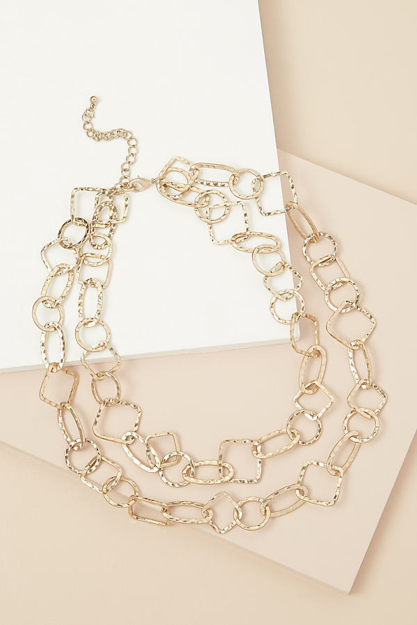 Layered Multi-Link Necklace - Gold