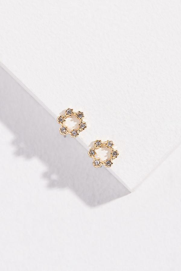 Becca Jewelled-Stud Earrings - Gold