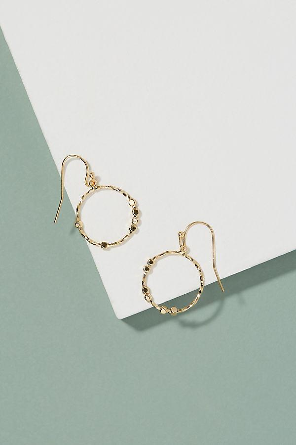 Eskil Beaded Hoop Earrings - Gold