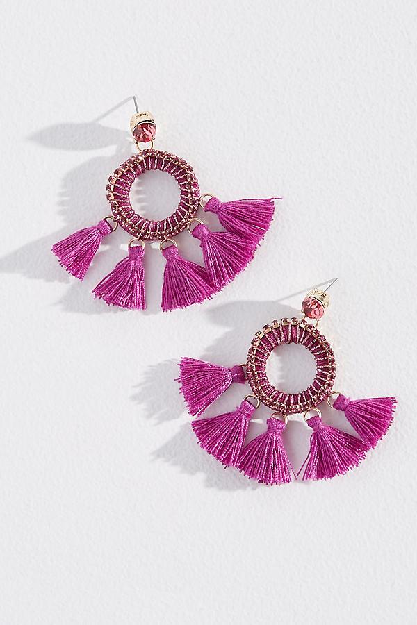 Melene Tasselled Earrings - Pink