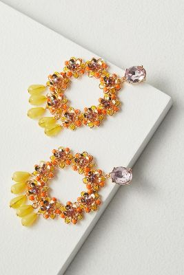 Sonia Beaded Chandelier Earrings by Anthropologie