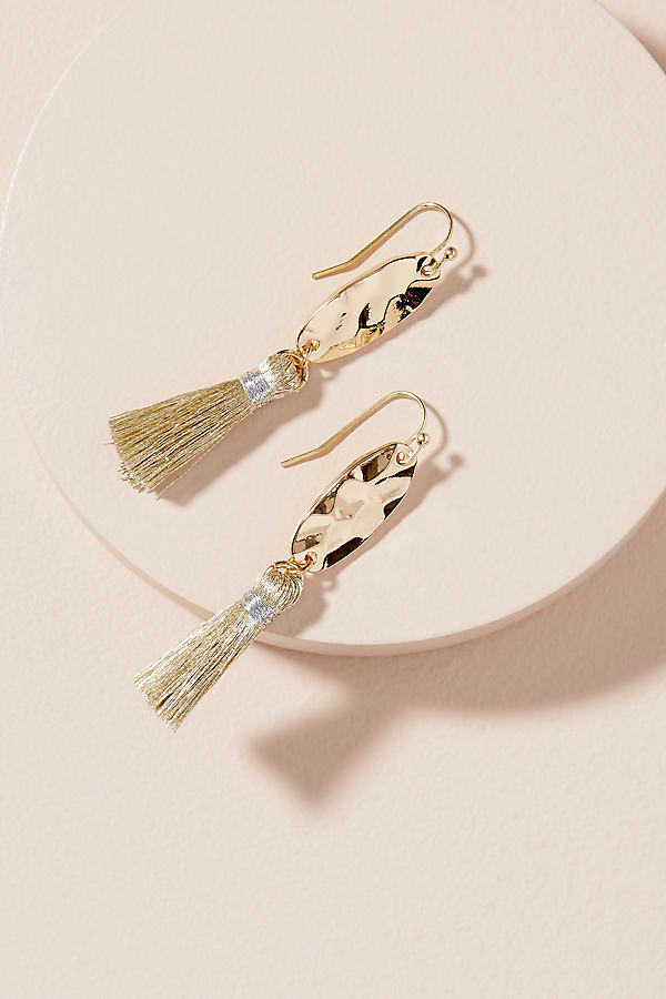 Sheridan Tasselled Drop Earrings - Gold