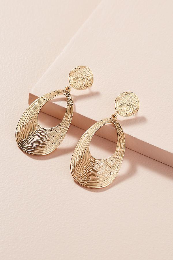 Pamela Etched Earrings - Gold