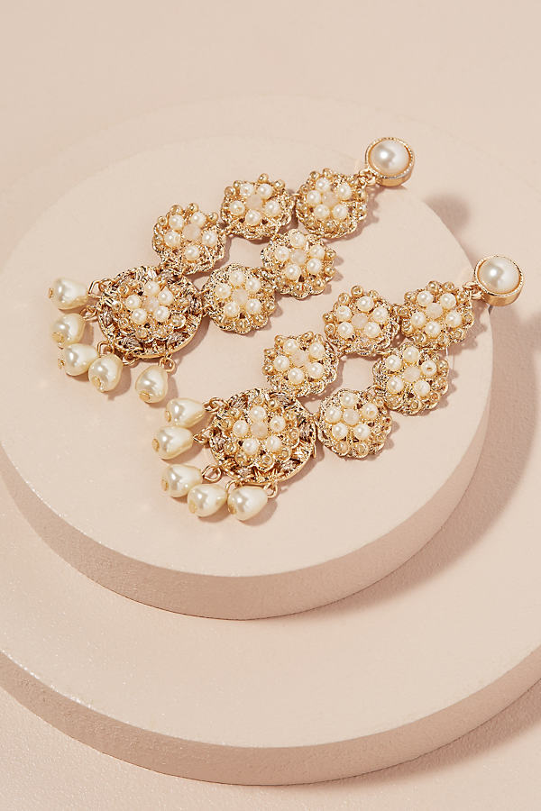 Fiesta Pearl Earrings - Pearl